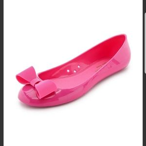 Kate Spade pink jelly ballet flats